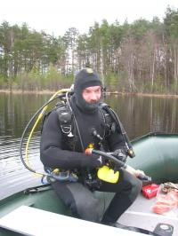 Anton Makarov, WSBS employee, author of popular science video episodes of underwater life